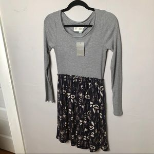 Anthropologie Saturday Sunday Thermal Navy Motif